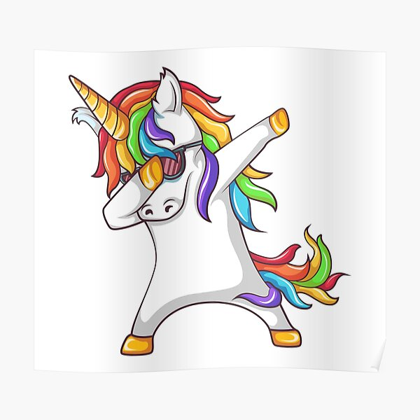 Dabbing Unicorn  Poster