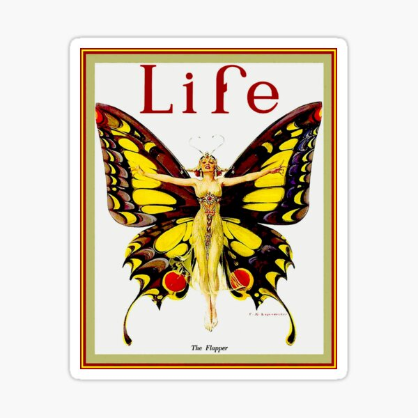 LIFE : Vintage 1922 Flapper Advertising Print Sticker