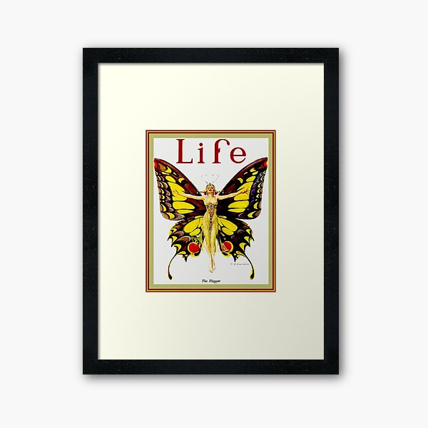 LIFE : Vintage 1922 Flapper Advertising Print Framed Art Print