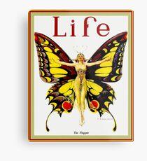 Lámina metálica VIDA: Publicidad publicitaria Vintage Flapper 1922