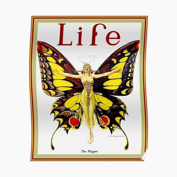 LIFE : Vintage 1922 Flapper Advertising Print Poster