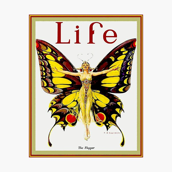 LIFE : Vintage 1922 Flapper Advertising Print Photographic Print