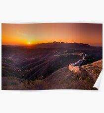 Great Wall Sunset Poster