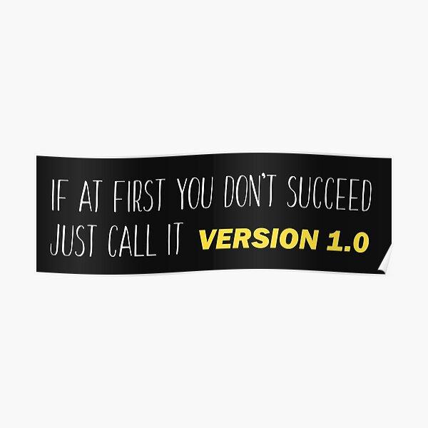 Version 1.0 - Funny Programming Jokes Poster
