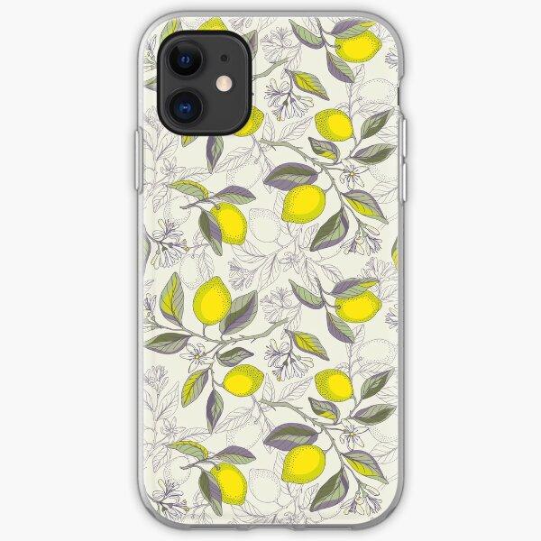 Lemon pattern iPhone Soft Case