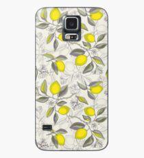 Zitronen-Muster Hülle & Klebefolie für Samsung Galaxy