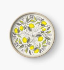 Lemon pattern Clock