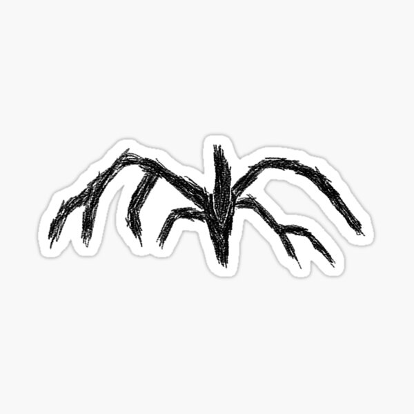 shadow monster stranger things sticker Sticker