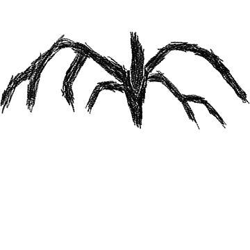 shadow monster stranger things sticker by L-Scott