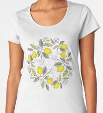 Lemon pattern Women's Premium T-Shirt