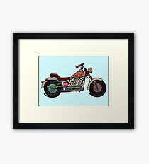 RETRO CANDY SWEETS CHPPER MOTORBIKE Framed Print