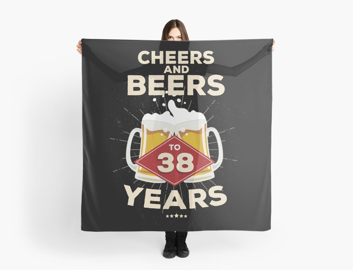 38th Birthday Gift Idea Cheers And Beers To 38 Years Quote By Blazesavings