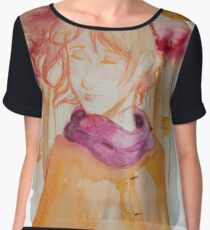Drop your worries like the leaves in autumn Women's Chiffon Top