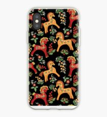 Folk horses pattern  iPhone Case