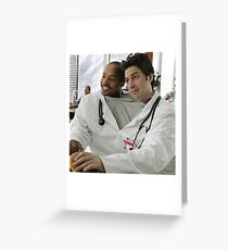 Siamese Doctor Scrubs Greeting Card