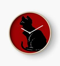 Life With Black Cats Vector Clock