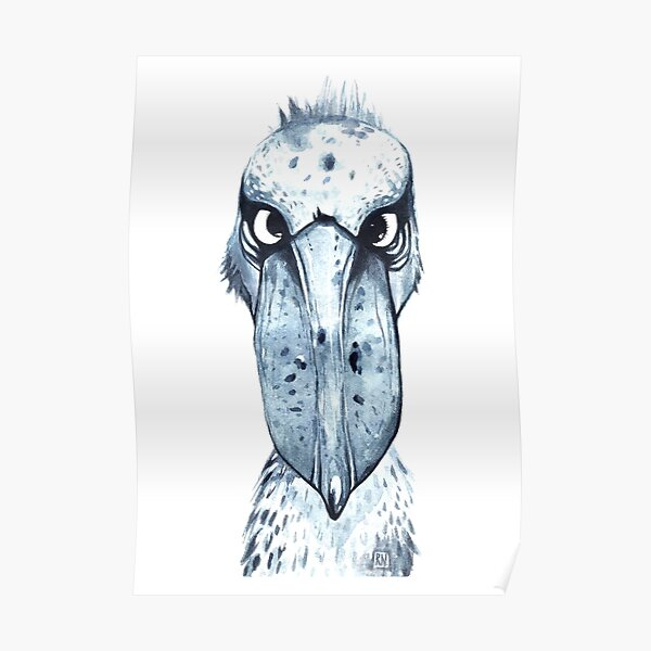 Serious Shoebill Poster