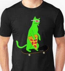 Psychedelic Skateboarding Pizza Cat Unisex T-Shirt
