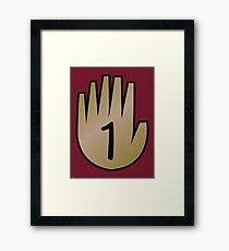 1 Hand Book From Gravity Falls Framed Print