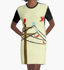 The Birds Graphic T-Shirt Dress