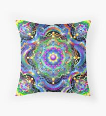 Mandala Universe Psychedelic  Throw Pillow