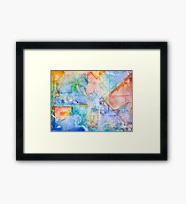Water & Color Framed Print