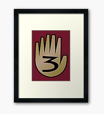 3 Hand Book From Gravity Falls Framed Print