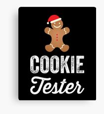 Official Cookie tester - Christmas cookies Canvas Print