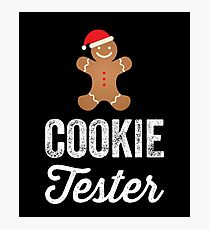 Official Cookie tester - Christmas cookies Photographic Print