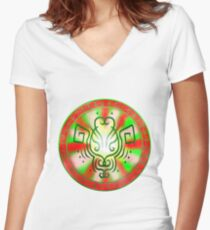 Sigil for being happy, and optimistic Women's Fitted V-Neck T-Shirt