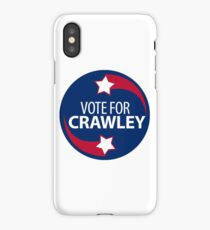 VOTE FOR CRAWLEY -- Red-White-and-Blue iPhone Case/Skin