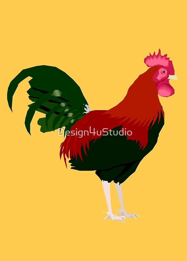 Proud Rooster by Design4uStudio