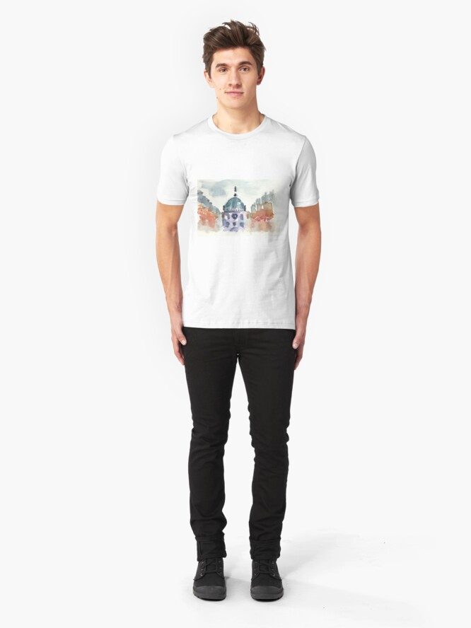 Alternate view of Poetic Brussels: Saint Mary's Royal Church Slim Fit T-Shirt