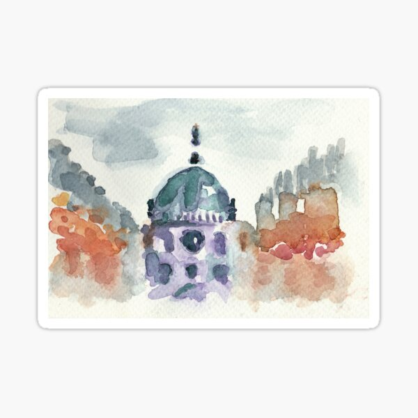 Poetic Brussels: Saint Mary's Royal Church Sticker