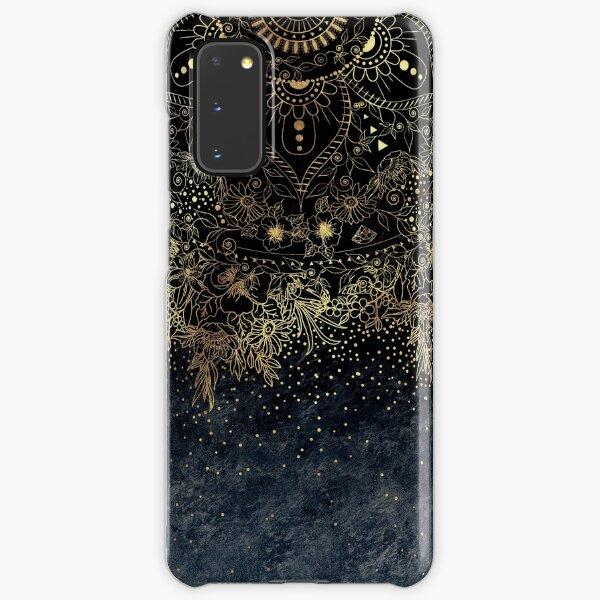 Stylish Gold floral mandala and confetti  Samsung Galaxy Snap Case