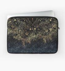 Stilvolles Goldblumenmandala und -Konfettis Laptoptasche