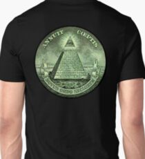Eye of Providence, America, USA, Mystic, Dollar, Bill, Money, Freemasonry, All Seeing Eye, Pyramid, Masonic T-Shirt
