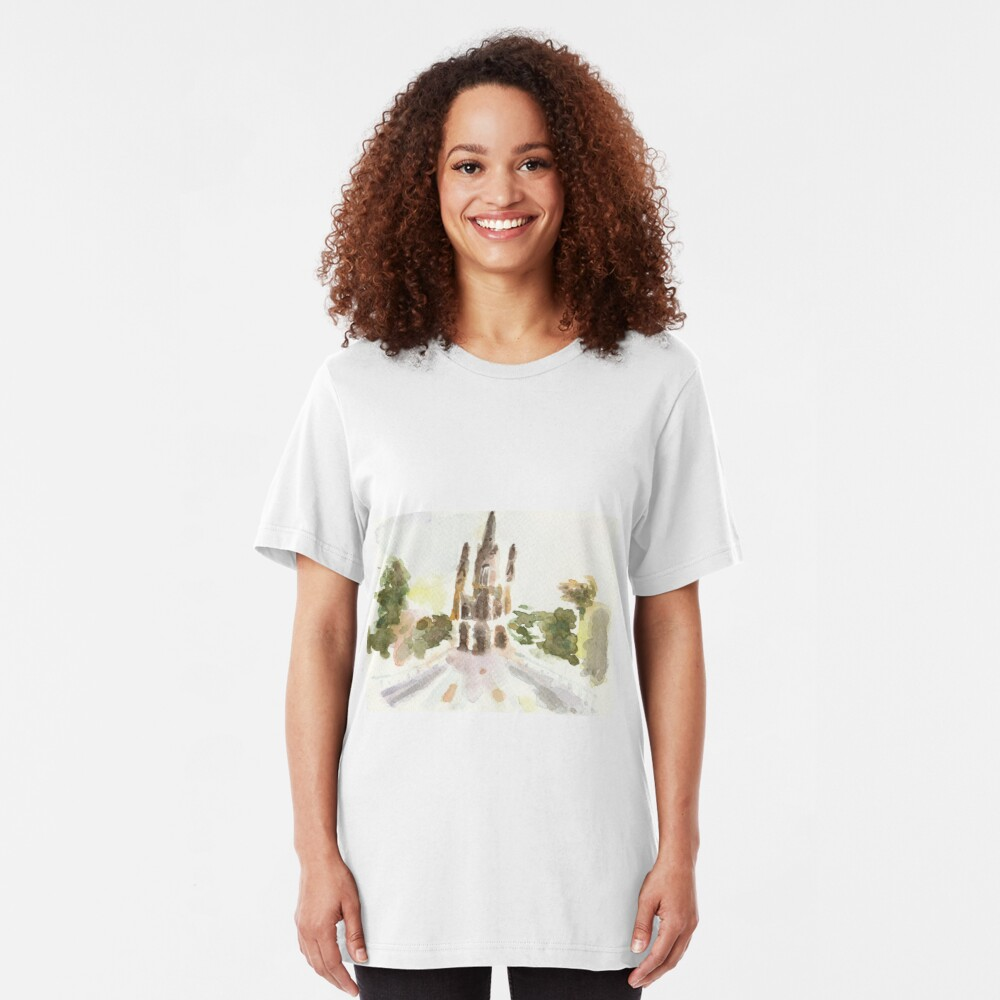 Poetic Brussels: Church of Our Lady of Laeken Slim Fit T-Shirt