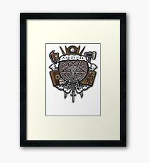Sunnydale Crest Framed Print