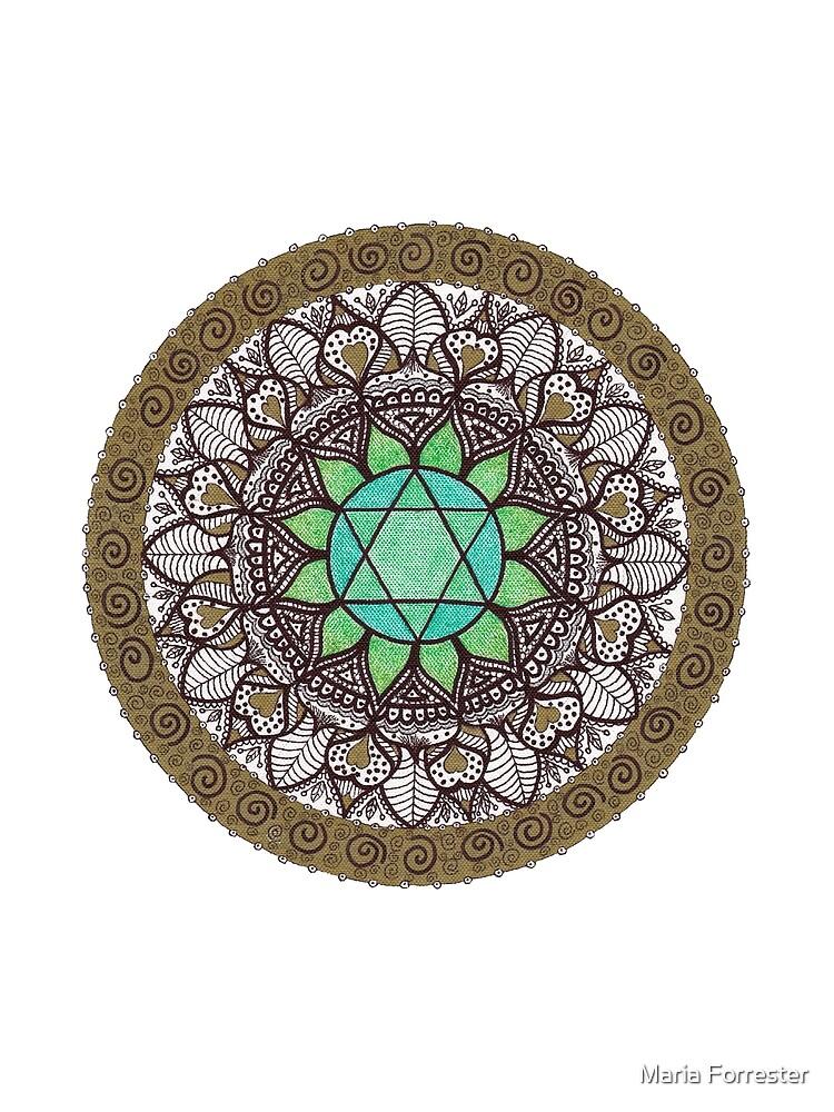 Herz Chakra Mandala von EarthRayne