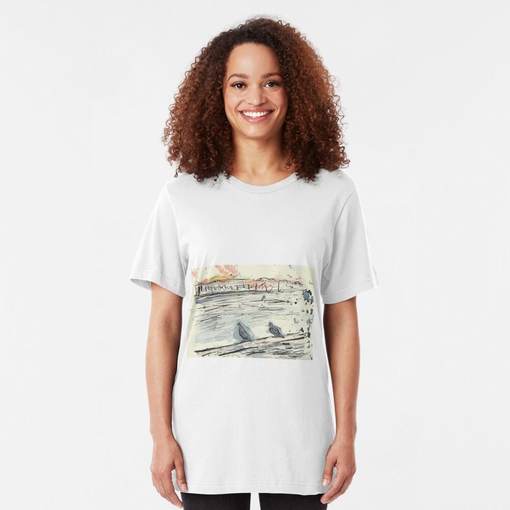 Poetic Brussels: City Pigeons Slim Fit T-Shirt