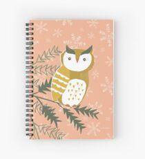 Winter Woodland Owl by Katy Bloss Spiral Notebook