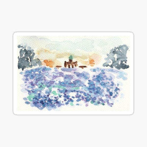 Poetic Brussels: Cinquantenaire park Sticker