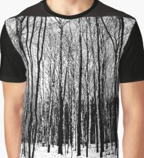 Black And White Forest Graphic T-Shirt