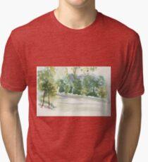 Portic Brussels: Bois de La Cambre Tri-blend T-Shirt