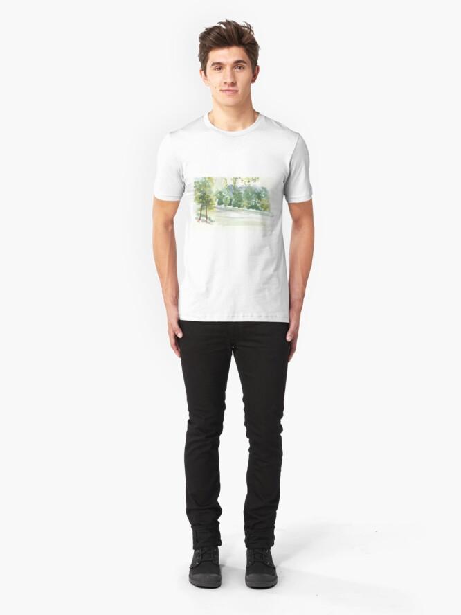 Alternate view of Portic Brussels: Bois de La Cambre Slim Fit T-Shirt