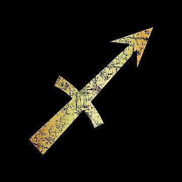 Zodiac Sign Sagittarius - Sternzeichen Schütze (Ancient Gold) by theshirtshops