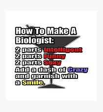How To Make A Biologist Cocktail Photographic Print