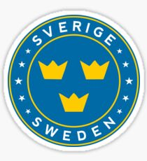 Schweden, Sverige, Aufkleber, Kreis Sticker