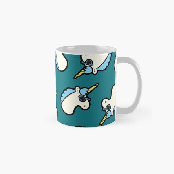 Unicorns Are Cool Pattern - Blue Classic Mug